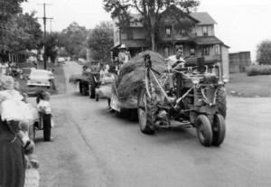 1955 parade with tractor