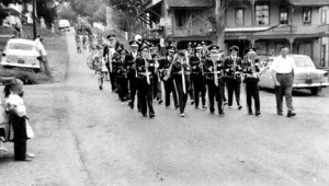 1955 Parade with the band