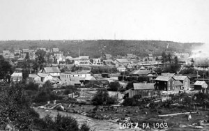 Lopez looking north in 1903