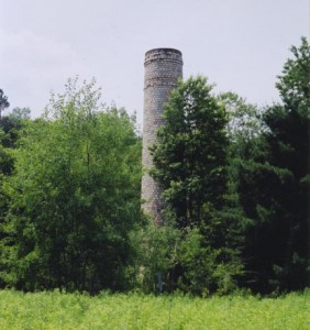 Brick factory smoke stack